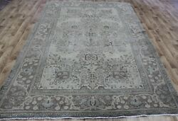 Overdyed Persian Tabriz Carpet 10 X 6and0396 Ft Hand Knotted Persian Wool Carpet