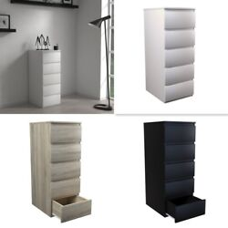 Modern Tall - White, Black, Or Sonoma Oak - Tall Chest Of 5 Drawers - Ikea