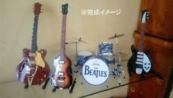 The Beatles Mini Guitar And Drum Set Of 4 Very Rare Collectible Musician F/s