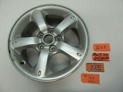 Wheel 16 X 7 Inch Aluminum Alloy Rim Oval Dimples 5 Spoke Silver 34 For Tribute