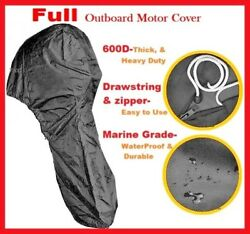 600d Heavy Duty Boat Full Outboard Engine Motor Cover 230-250hp All Weather