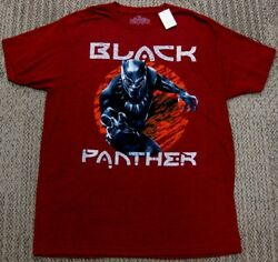 Black Panther Athletic Fit Stretch T Shirt Maroon Red Marvel Comic men S M L XL