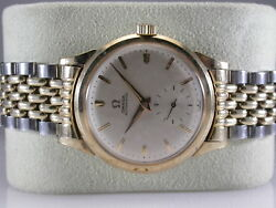 Omega Vintage Gold Filled Automatic Watch Fx6282 Silver Dial