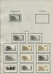 #746E 7c NATIONAL PARKS (11) DIFF OFFICIAL B.E.P. ESSAYS (EX-ALVIN HALL) WLM7079