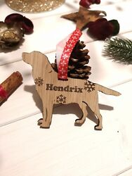 Personalised Christmas Decorations Dog Puppy Xmas Tree Ornaments Bauble Gifts