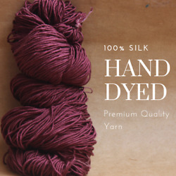 Pick up the Latest Trendy Colors Special Dye - 100% silk yarn for knitting C13