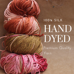 Pick up the Latest Trendy Colors Special Dye - 100% silk yarn for knitting C15