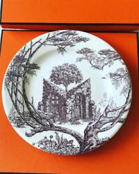 Hermes Les Maisons Enchantees Plate Rare Model New In Box Discontinued 22cm F/s