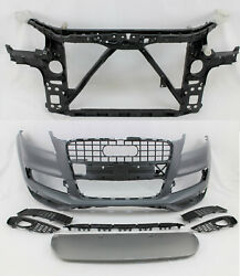 Replacement 2010 - 2015 Q7 Sline Sport Front Bumper Cover Grille Core Support
