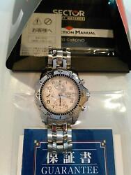 SECTOR 2000 Vintage Watch Chronograph Valjoux ETA 7750 Complete Rare From JAPAN