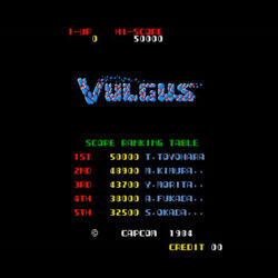 VULGUS PCB P.C.BOARD GAME CAPCOM 1984 WEAPON SHOOTING RETRO JAPAN RARE FS