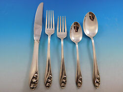Lily Of The Valley By Gorham Sterling Silver Flatware Set For 8 Service 40 Pcs