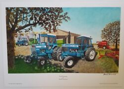 Russell Sonnenberg Ford Tractor Art Print Titled Ford Farming