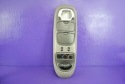97-02 Ford Expedition Navigator Overhead Console Climate Map Light Gray OEM