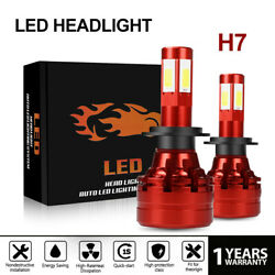 H7 LED Headlight Kit 6500K Low Beam Bulbs HID White 6000LM Dual Color Newest