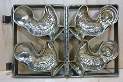 Old Double Duckie Chick Chicken Chocolate Mold Decorative Art Easter Kitchenware