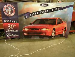 Nos Oem Ford 1994 Mustang 30th Anniversary Show Room Banner Gt