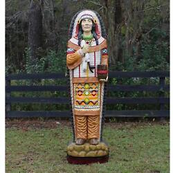 Cigar Store Indian Cabinet With Shelves Tobacco Shop Life Size Statue