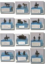 World War 1 Ww1 Metal Figures Artillery Tanks Soldiers 1/24 Cavalry Milita