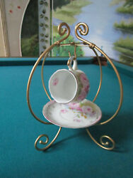 Kpm Krister Germany Coffee Cup And Saucer With Stand Orig[94]