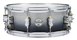 PDP Maple Snare Drum - Silver to Black Sparkle - Chrome 14
