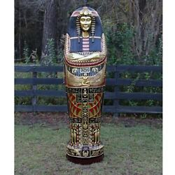 Queen Tut Life Size Sarcophagus Cabinet Statue Not King Gold Leaf 6 Ft