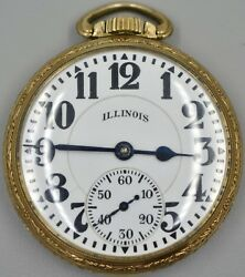Illinois Watch Co. Bunn Special Pocket Watch 60hr 21j 5176719 Running On Time