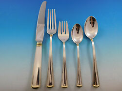 Marie Louise Gold Blackinton Sterling Silver Flatware Set Service 45 pcs Dinner