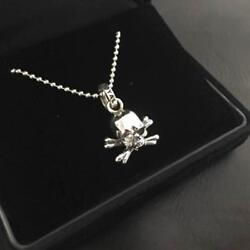 Roen Royal Order Skull Charm Necklace Men Jewelry Christmas Limited Silver 925