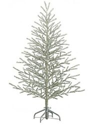 5and039hx40d Tinsel Artificial Christmas Tree On Metal Stand Antique Silver Holiday