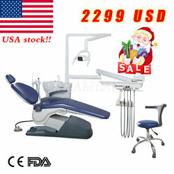 Computer Controlled Dental Unit Chair Thermostatic Water Supply W Stool set US