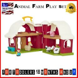 Animal Farm Play Set Toy For Toddlers Age 18 Months And Plus Horse Cow Sheep Pig