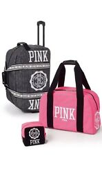 Victoria's Secret PINK 3-Piece Set: Wheelie + Carry-On Duffle + Cosmetic Bag NWT