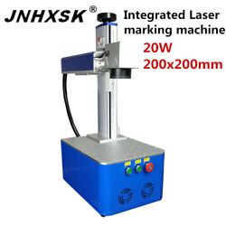 Integrated Fiber Laser Marking Machine For Ring Phone Cover 20w Cnc Router Steel