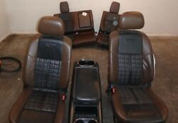 2016 NISSAN TITAN XD PLATINUM FRONT REAR SEAT CONSOLE BROWN LEATHER HEAT COOLED