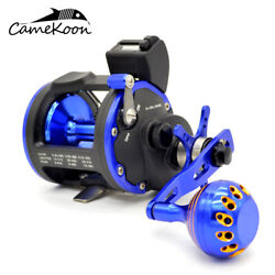 Camekoon Level Wind Trolling Reel With Line Counter Saltwater Boat Fishing Reels