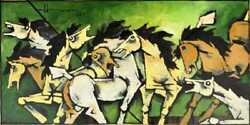 Large Maqbool Fida Husain Painting