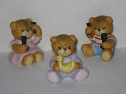 Lot Of 3 Lucy Rigg And Me Baby Bears Talking On The Phone 1 Wi Duck 1985 Enesco