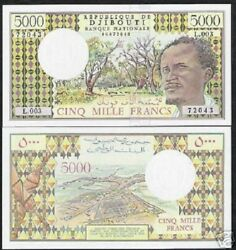 Djibouti 5000 Francs P38 D 1979 Ship Last Sign Unc Currency Money Bill Bank Note
