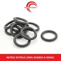 Metric Nitrile Rubber O Rings 3mm Cross Section 111mm-140mm Id - Uk Supplier