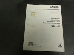 Wacker Rt820cc Trench Rollers Parts Book Manual 0009002