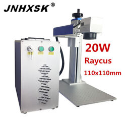 20w 110x110mm Laser Marking Machine Ring Stainless Steel Jewelry Phone Cover Cnc