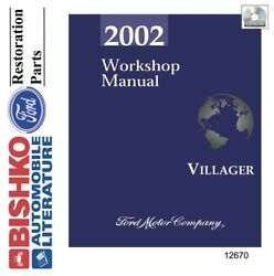 2002 Mercury Villager Shop Service Repair Manual CD