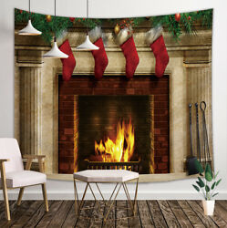 Wall Fireplace Flames Tapestry Wall Hanging Decor for Bedroom Living Room Dorm