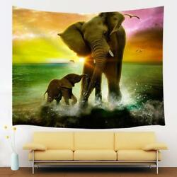 Africa Elephant Tapestry Wall Hanging Decor for Bedroom Living Room Decor