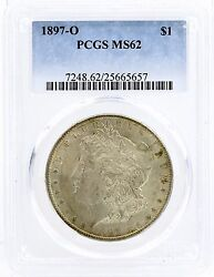 1897-o United States 1 Morgan Silver Dollar - Official Pcgs Graded Ms62
