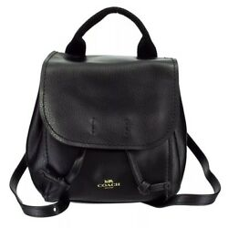 COACH DERBY BACKPACK BLACK PEBBLED LEATHER 2 IN1 SMALL CROSSBODY BAG