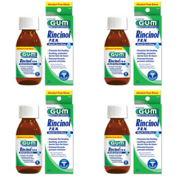 GUM Rincinol P.R.N. Mouth Sore Rinse Mouth Sore Relief #1770, 4 (Pack of 4)