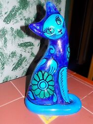 Vtg Rare Cat Deco Statue Imported From Italy Made For The Broadway Dept Store