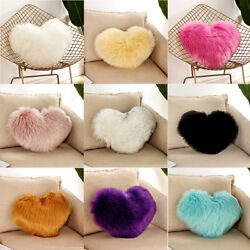 Heart Shaped Throw Pillow Cushion Plush Pillows Gift Home Sofa Decoration